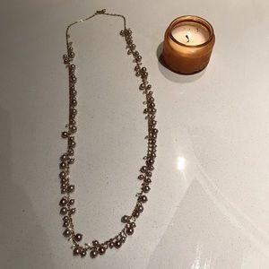 Banana Republic pink pearl necklace.